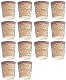 日本製 表面断熱加工カップ 14個 セット ( コーヒー や 紅茶 持ち手が熱くない 断熱コップ ) (250ml) re
