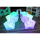 Buyusee 2Pcs/Pack Elephant Shape Color Changing LED Night Light Lamp Venue Party Decor (Color: nn1)