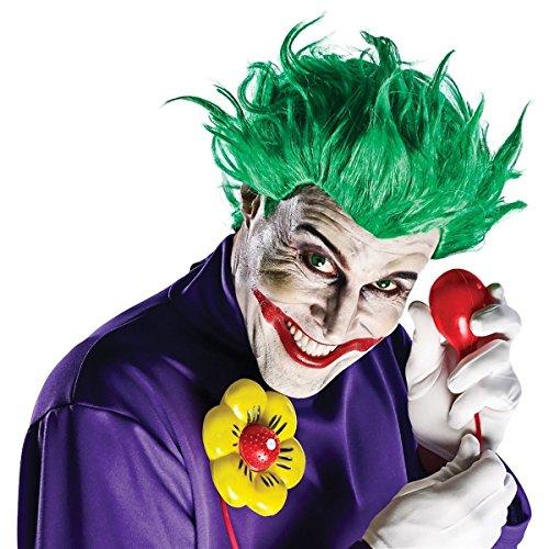 [GSG The Joker Costume Accessory Adult Men Wig+Gloves+Squirting Flower Halloween] (Joker Nurses Costume)