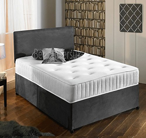 new-charcoal-grey-luxury-suede-divan-bed-set-with-orthopaedic-tufted-mattress-with-2-free-drawers-fr