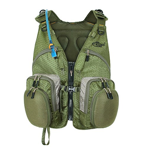 Sf fly fishing mesh vest with back pack adjustable size for Fishing vest amazon