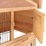 Holi-us-40-Wooden-Rabbit-Hutch-Cage-Chicken-Coop-Hen-House-Poultry-Cage-Pet