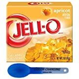 Jell-O 3oz Reg Flavors 24ct With Color Changing Spoon (Apricot)