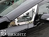 BRIGHTZ 【BRIGHTZ オデッセイ RB1 RB2 超鏡面メッキフロントウィンドウピラーパネルカバー 2PC】 4671