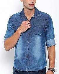 Bandit Dark Blue Slim fit Denim Shirts - XXL
