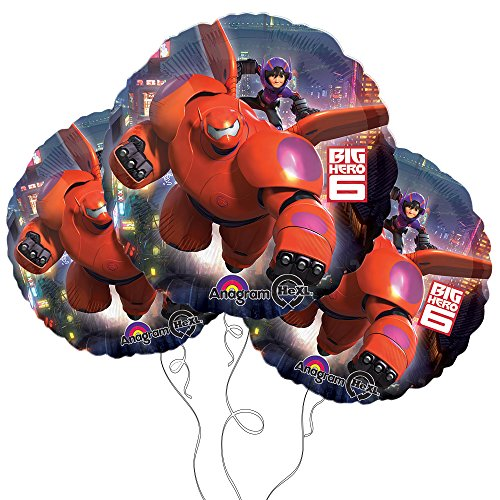 "Big Hero 6 18"" Mylar Balloon 3pk - 1"