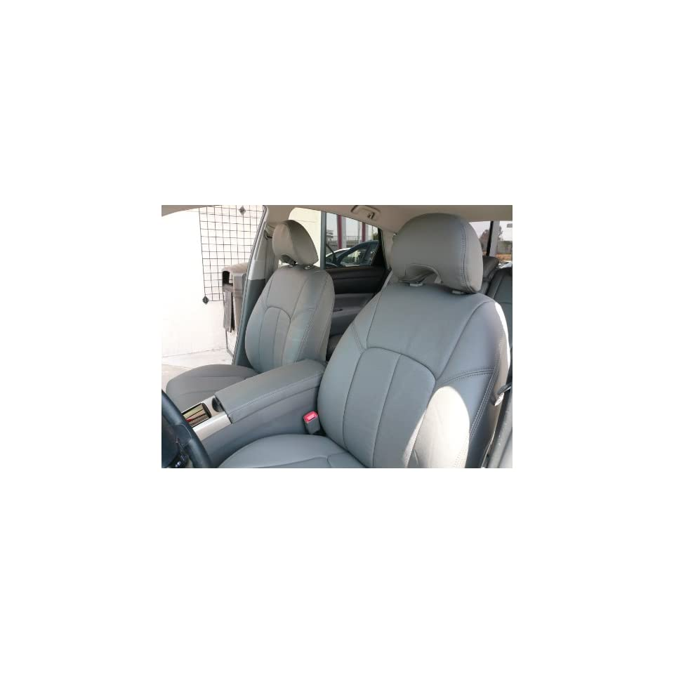2012 2013 Toyota Camry L / Le   Light Gray   Clazzio Leather Seat Covers