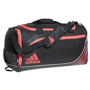 Adidas Team Speed Duffel Bag (Medium, Black/Infrared)