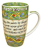 "Irish Blessing bone china mug - ""May the road rise to meet you. May the wind be always at your back."" An Irish Gift designed in Galway Ireland by Irish Weave by Royal Tara."