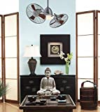 """Minka Aire F602-BN/CH, Gyro, 42"""" Twin Turbofans, Ceiling Fan, Brushed Nickel with Chrome"""