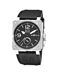 Bell & Ross Men's BR-03-90-POWER RESERVE Aviation Black Power Reserve Dial Watch