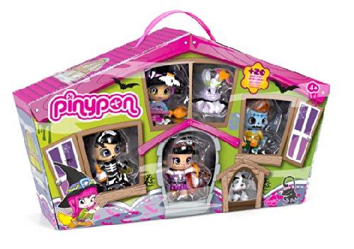 Pinypon - Pinymonsters, pack de 4 figuras y 2 pets (Famosa 700010636)