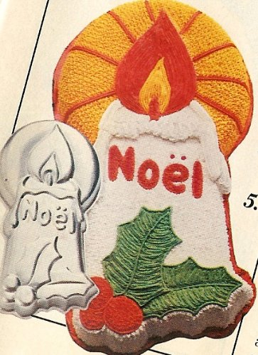 Wilton Noel Candle Christmas Holiday Cake Pan (502-3304, 1981) Retired