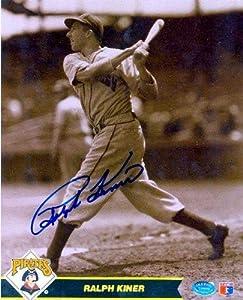 Ralph Kiner autographed 8x10 Photo (Pittsburgh Pirates #4 - Baseball Hall of Famer -...