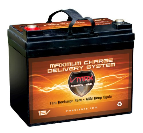 Vmax857 agm battery 12 volt 35ah marine deep cycle hi for Marine trolling motor batteries