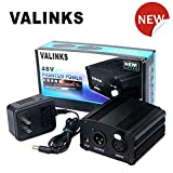 1-Channel 48V Phantom Power Supply VAlinks® Especially for Professional PC Condenser Microphone Mic Mixer Music Recording Equipment with Standard 110V DC Adapter Included (Phantom Power Supply)