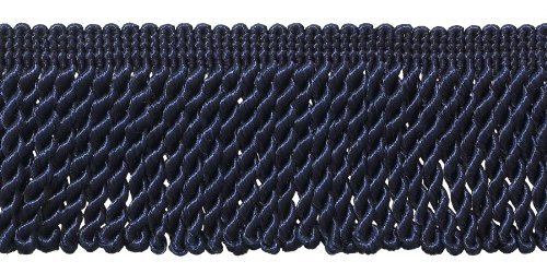 2.5 Inch Bullion Fringe Trim, Style# EF25 Color: DARK NAVY - J3, Sold By the Yard