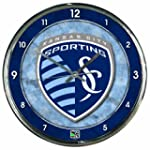 MLS Sporting Kansas City Chrome Clock