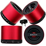 CellBig Introduces Brand New Red Hot My Vision Wireless Portable Mini Bluetooth V9 Speaker With S D Card Reader Slot And iN Built Mic Included UK Mains Plug Charger Adaptor in BONUS Suitable for Dell Aero / Flash / Mini 3i / 3iX / Smoke / Streak 10 Pro /
