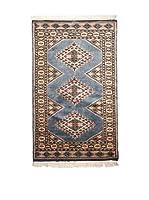 QURAMA Alfombra Kashmir Fine Azul/Multicolor 130 x 76 cm
