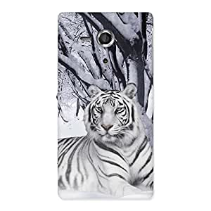 Ajay Enterprises WoSnow Tiger Back Case Cover for Sony Xperia SP