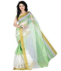 Sanju Magnificent Light Green Color Cotton Saree