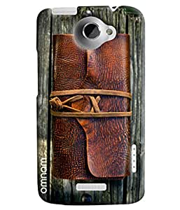 Omnam Leather On Wood Printed Designer Back Cover Case For HTC One X