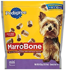 Pedigree MarroBone Snack Food for Small Dogs, 15-Ounce Pouches (Pack of 8)