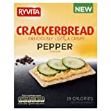 Ryvita Black Pepper Crackerbread 6x125g