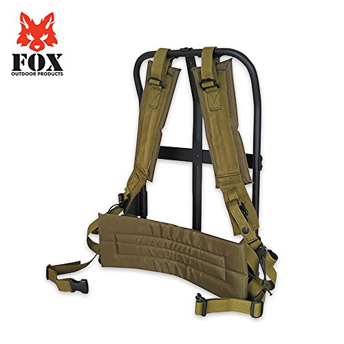 Fox Outdoor Products LC-1 A.L.I.C.E. Field Pack Frame, Black Frame/Olive Drab Pad, 20