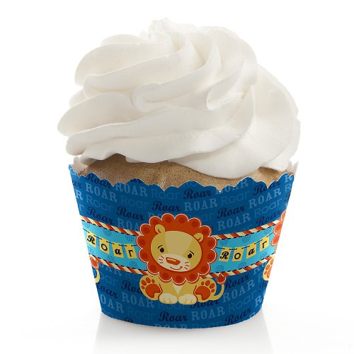 Lion Boy - Baby Shower Cupcake Wrappers front-796912