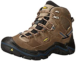 KEEN Men\'s Durand Mid WP Hiking Boot, Brindle/Midnight Navy, 10.5 M US