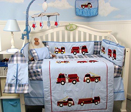 Firetruck Crib Bedding Collection