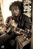 Bob Marley Poster Gitarre Sepia