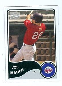 Joe Mauer baseball card 2003 Topps Bazooka Mini #184 (Minnesota Twins rookie card)