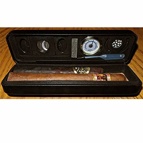 Csonka Accessorized Pocket Travel Cigar Humidor Case