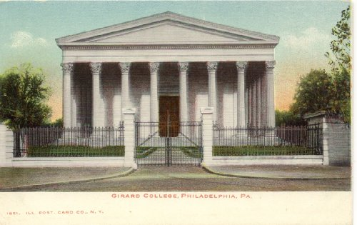 1900 Vintage Postcard Girard College - Philadelphia