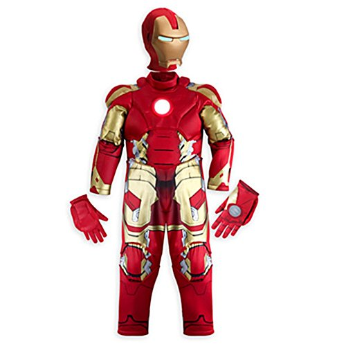 Disney Store Little Boys Deluxe Iron Man Light Up Costume Sz 4T 5/6 7/8 9/10 Red (9/10) (Iron Man Costume 4t compare prices)