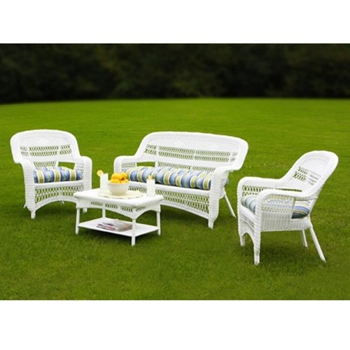 Portside Coastal White 4-Piece Seating Set picture