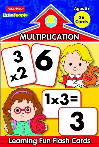 Fisher Price Little People Math Flash Cards-Multiplication (Fisher Price Math Flash Cards compare prices)