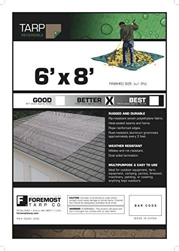 6-x-8-Dry-Top-BrownGreen-Reversible-Full-Size-7-mil-Poly-Tarp-item