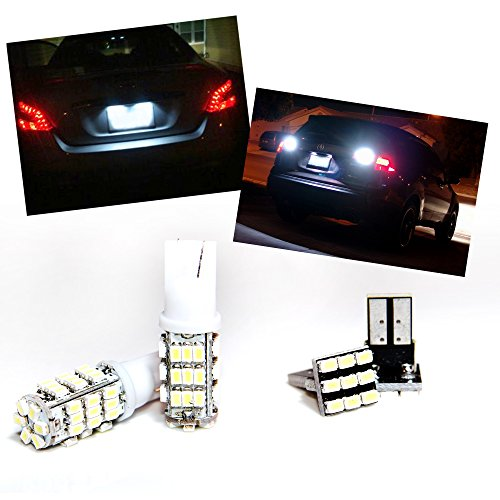 Tgp T15 White 42 Led Smd Wedge Reverse / Backup Light Bulbs And License Plate Led Pair 2001-2013 Toyota Tacoma