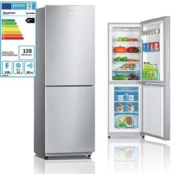 BERGSTROEM A+++ Kühl-Gefrierkombination Kühlschrank Tiefkühlschrank Edelstahl / 199L Volumen / Gefrieren 61L / Kühlen 138L