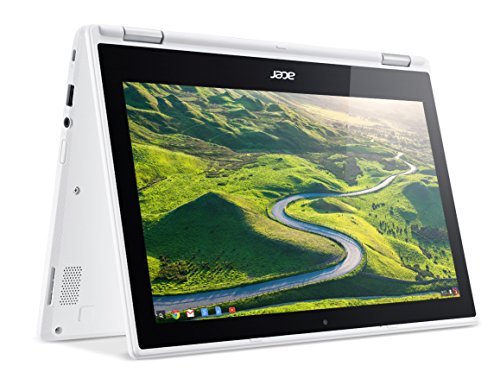 Acer Convertible Chromebook R11, 11.6-inch HD Touchscreen Notebook, White (CB5-132T-C32M)