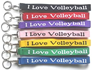 Buy I Love Volleyball Woven Lanyard - Royal by Allthingsvolleyballs