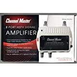 Channel Master CM 3412 2-Port Ultra Mini Distribution Amplifier for cable and antenna signals (CM3412)
