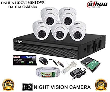 Dahua-DH-HCVR4108HS-S2-8CH-Dvr,-5(DH-HAC-HDW1000RP)-Dome-Cameras-(With-Accessories,1TB-HDD-)
