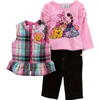 Amazon Com Disney Baby Girls Winnie The Pooh 3 Piece