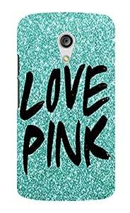 Back Cover for Moto G (2nd Gen) Love Pink