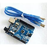 New UNO R3 Board Atmega328p Atmega16u2 amd USB Cable for Arduino